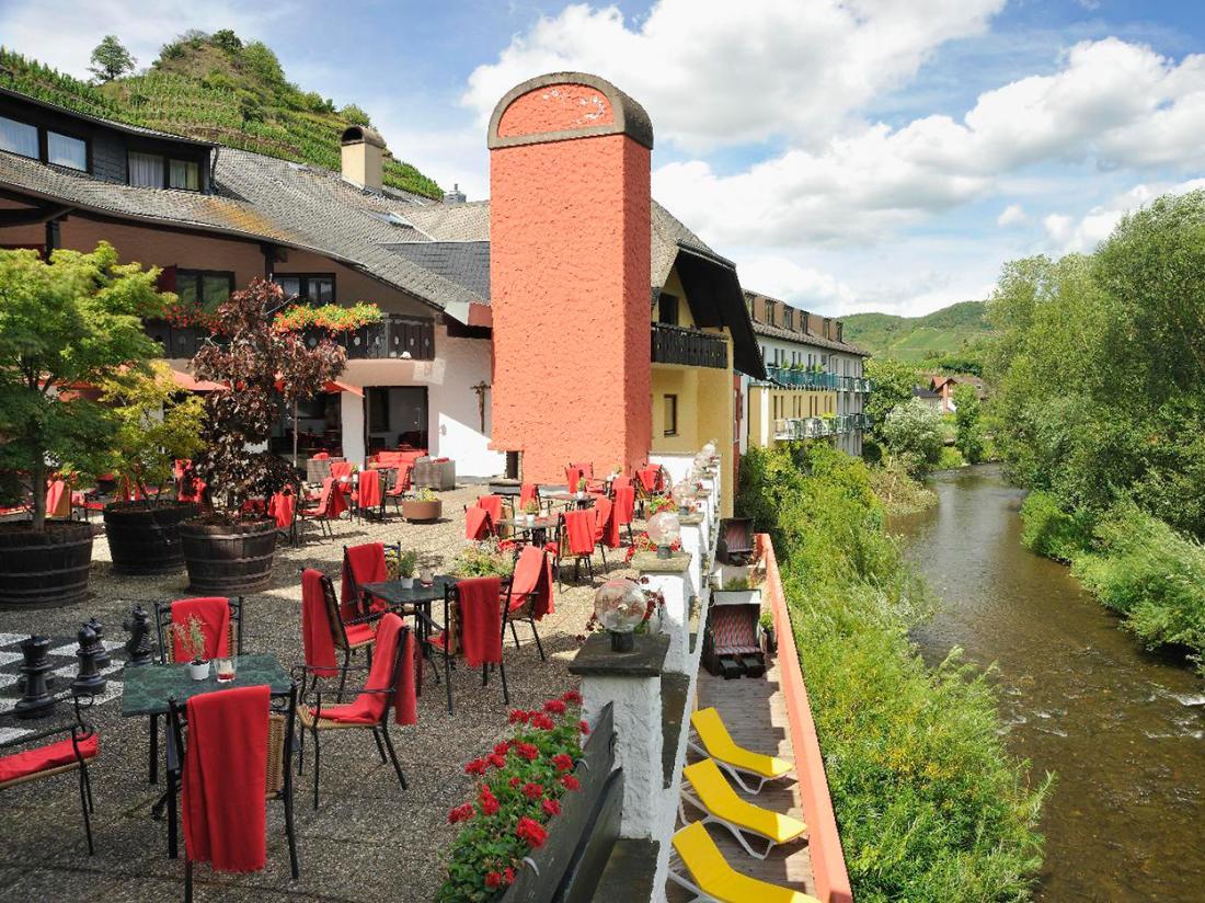 Hotel Lochmuhle Mayschoss Terras