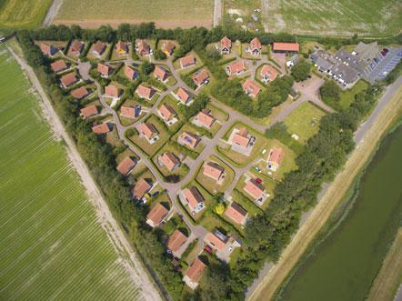 Hotel Prins Hendrik Texel Luchtfoto