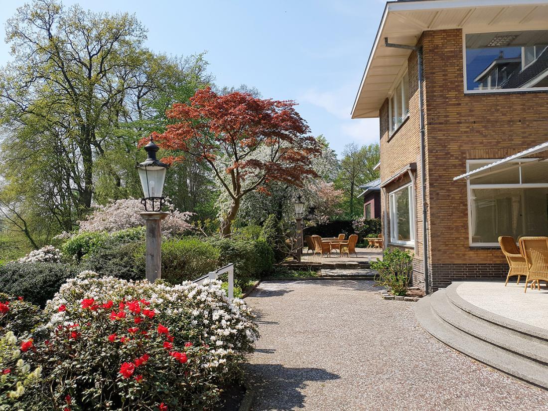 Hotel Wyllandrie Twente Ootmarsum Terras Tuin