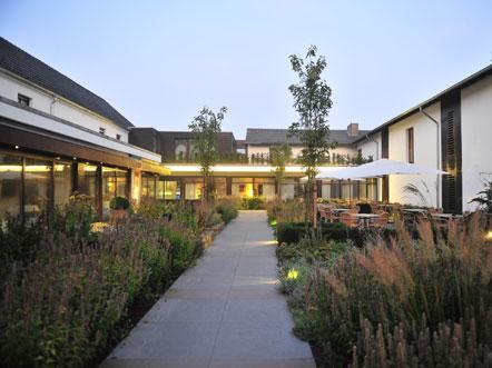 Hotel Landhaus Beckmann Kalkar Tuin Terras